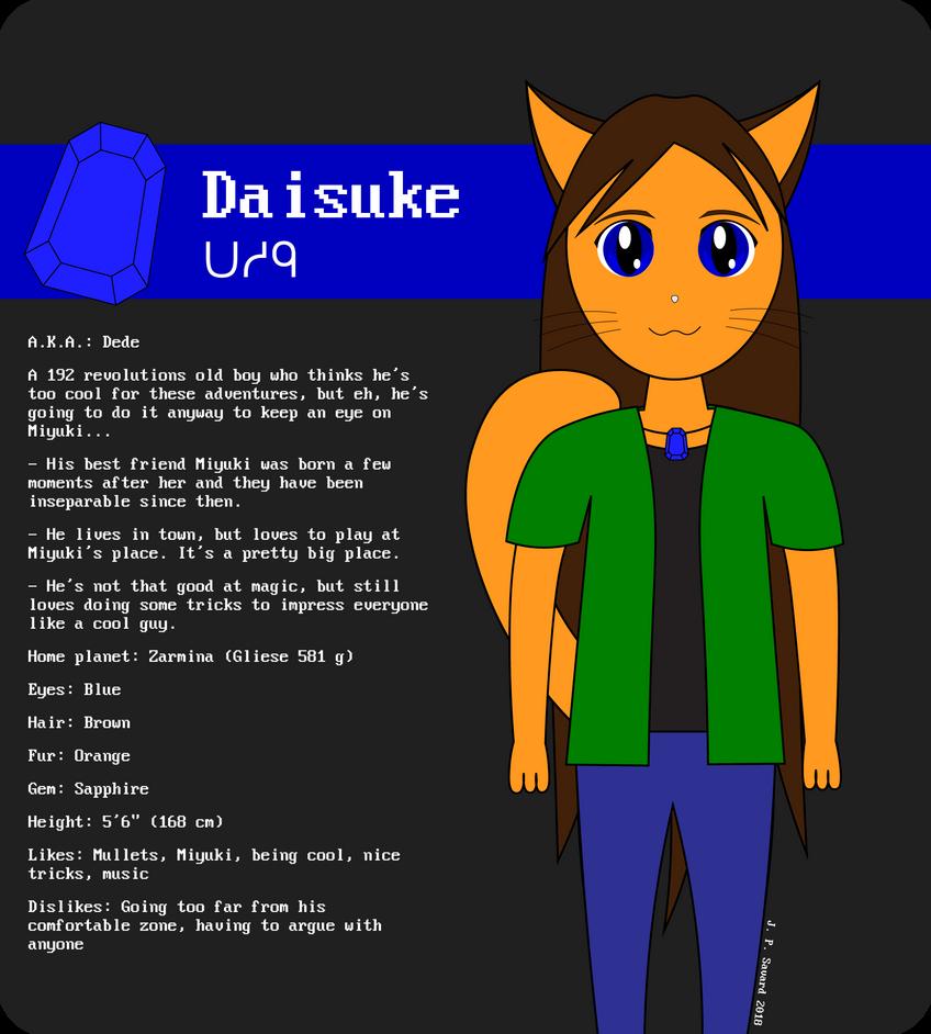 Zarmina Character Sheet: Daisuke by juju2143