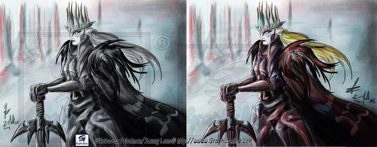 Demon Kogure: SeikimaII:: BW and Color by GraphicAnime