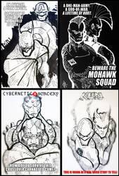Marvel vs DC Sketches a AFA 2011