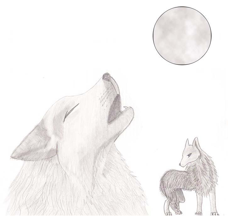 Luna llena y lobos by Lissit on DeviantArt