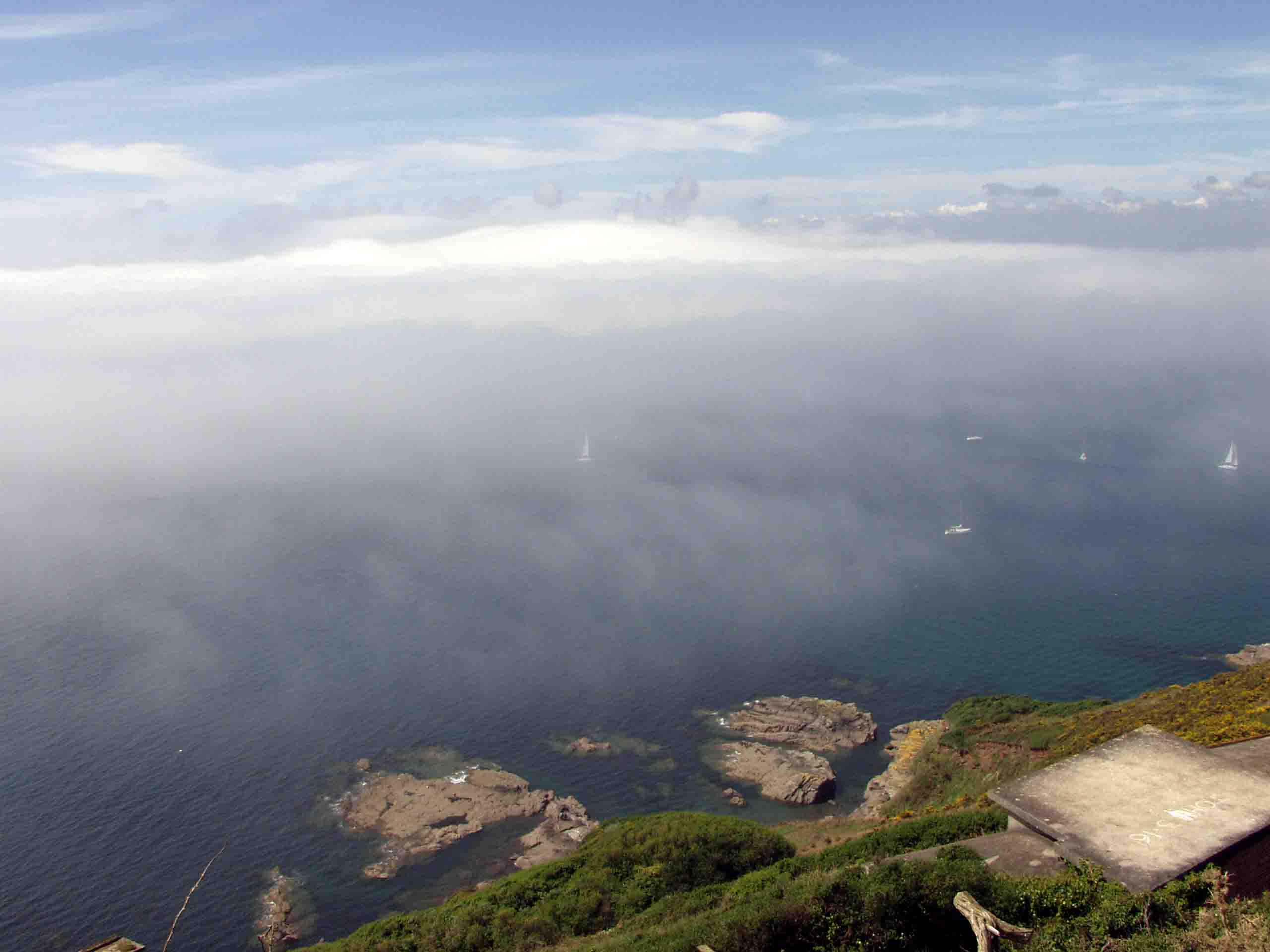 Sea Fog over Plymouth Sound by squishy2004