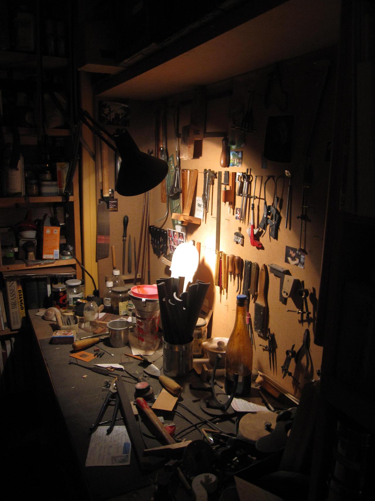 workshop of luthier