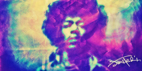 Hendrix Psychedelic Wallpaper by AYSAMO