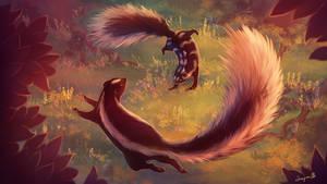 Dancing skunks. by Simjim91