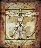 XMASGIFT: Rorschach Vitruvian Man by TheClawTheySay