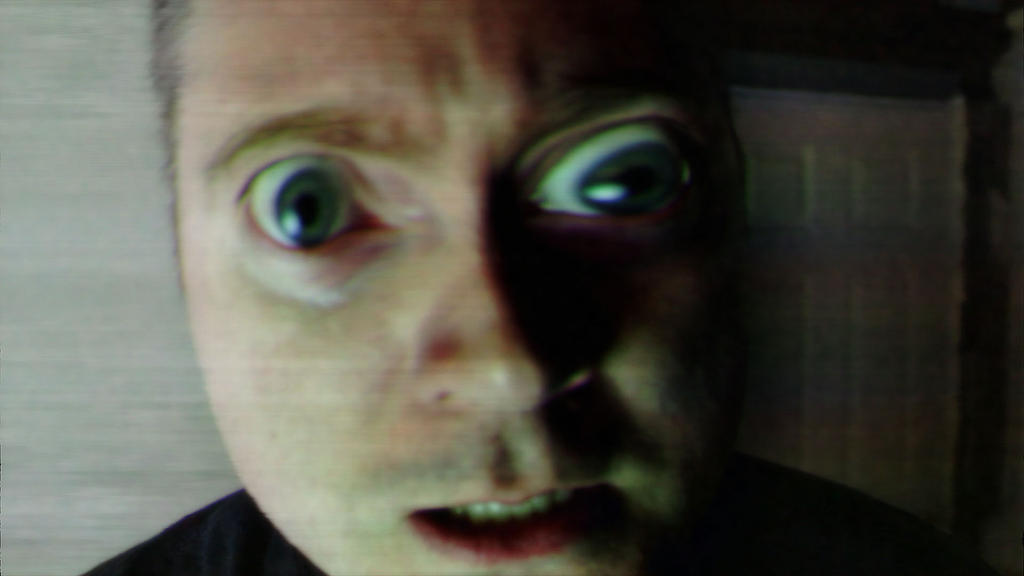 Channel Promo Screen Cap of VHS Demon Face Footage by TheClawTheySay