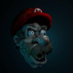 Haunted Mario 3d Sculpt from Blender
