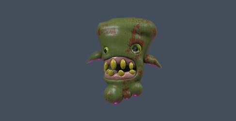 A Sideshow Massacre freak recreated with 3DCoat