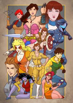 80 90's Cartoon Gal