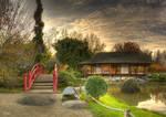 Photo HDR prise au jardin japonais de Toulouse