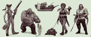 Cajun Swamp Pirates.