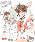 adoptable auction : cherry bunny (closed)