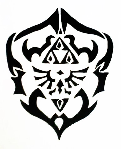 tribal hylian shield oot by greenycharacter3717 on deviantart. Black Bedroom Furniture Sets. Home Design Ideas