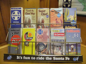 Santa Fe Railroad Brochure Holder