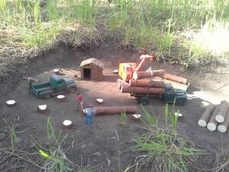 Logging camp by SouthwestChief