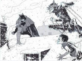 Gotham by Gaslight Batman VS Batman Who Laughs. by Theprojectzombie