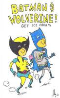 Batman and Wolverine Ice Cream by dawgmastas