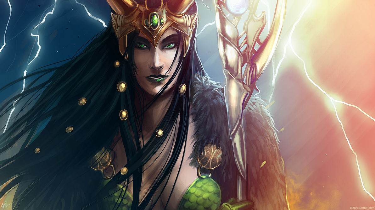 Lady Loki Wallpaper by elz-art