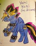 Yami Yugi as Alicorn colt