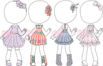 [OPEN - 1 Left!] Outfit Adopts - Pretty Dresses by LoveFromEsth