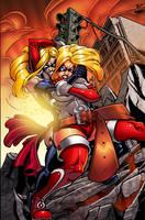 Dynagirl vs Ms Marvel-Colors by SplashColors