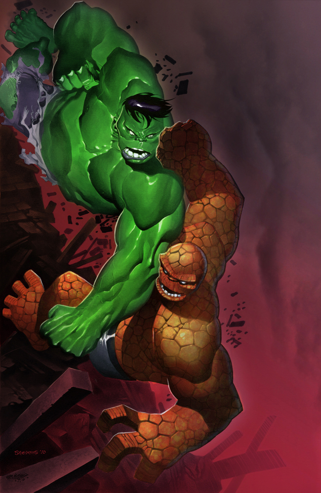 Hulk vs Thing Colors by SplashColors