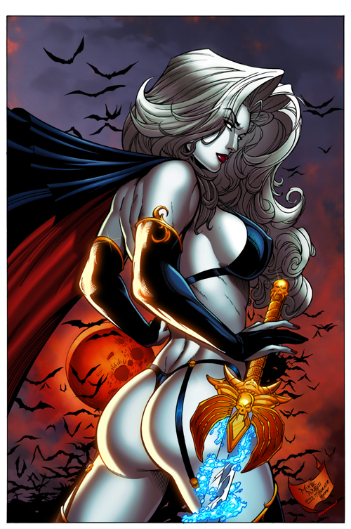 Lady Death by DeBalfo colors 2 by SplashColors