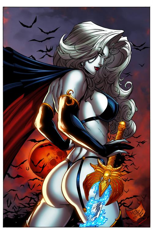 Lady Death by DeBalfo colors 2 by SplashColors