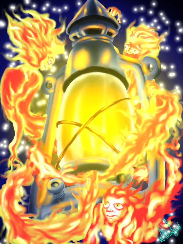 The Lamp and the Flames. / A lamparina e as Chamas by DDensetsu