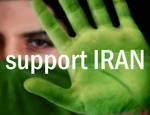 Support Iran: green hands by GoldDragonfly