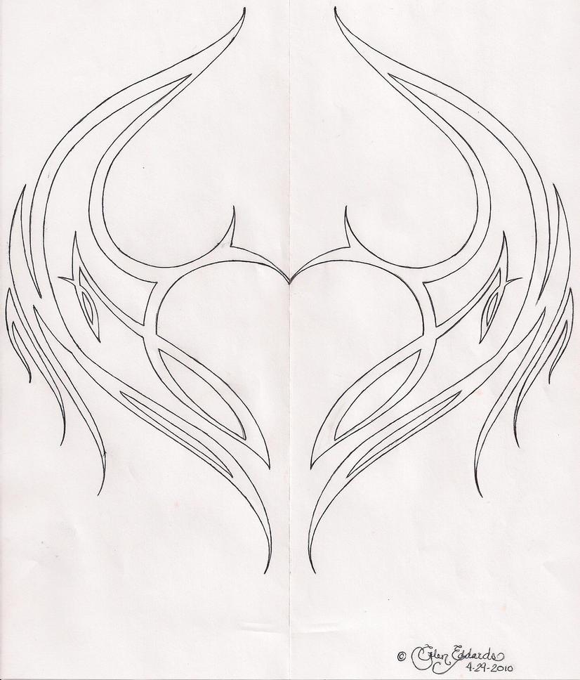 Tribal Heart n Wings 4292010 by glen1128 on DeviantArt