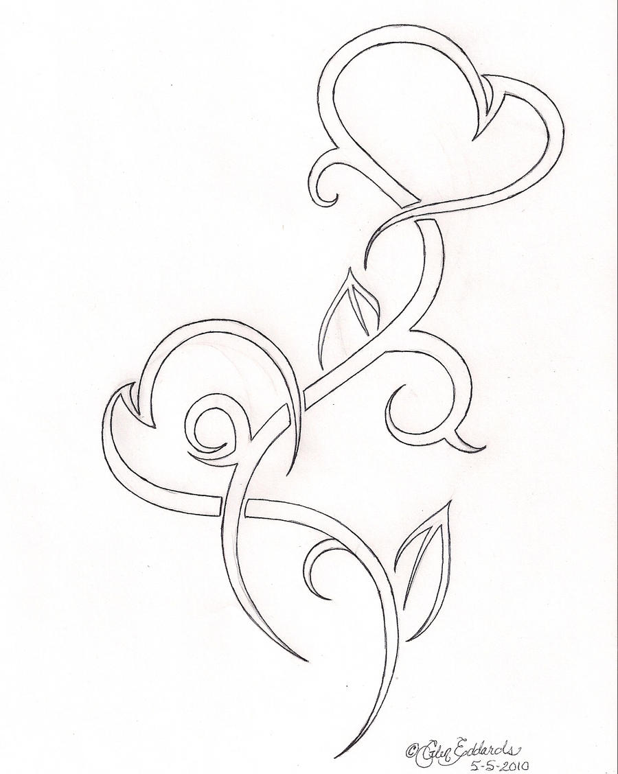 Drawings Of Tribal Hearts Tribal Heart 552010 by...