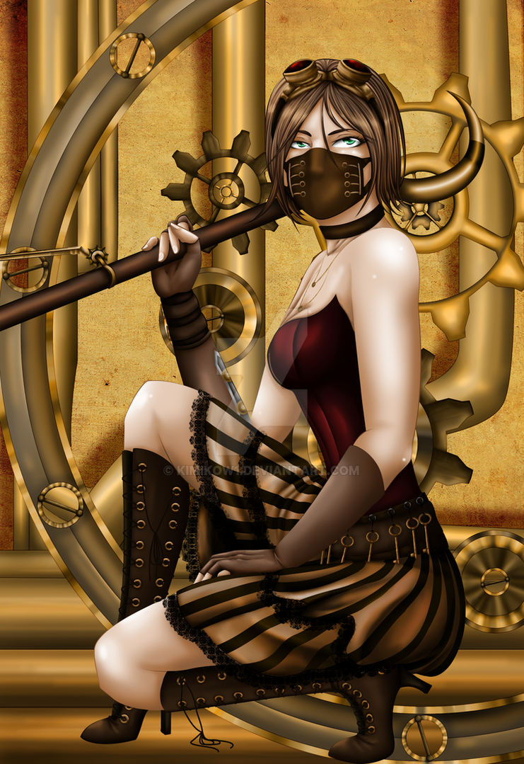 Steampunk Girl by kimikow1