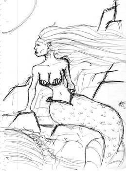 Mermaid Pen Sketch
