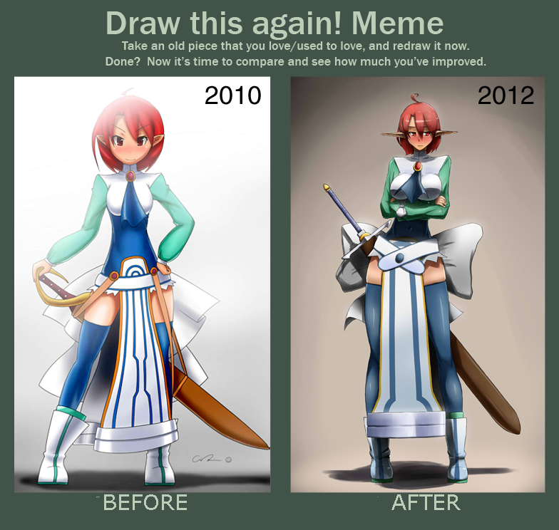 [Meme: Before and After] Disgaea: Magic Knight by point23