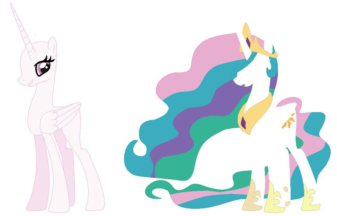 Princess Celestia Base By Ribbetlion-d6trslb By