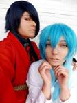Koujaku and Aoba [Dramatical Murder Cosplay] by keybladeschosenone