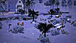 The beach covered with Snow - The Sims 3 Seasons by ZsoltyN