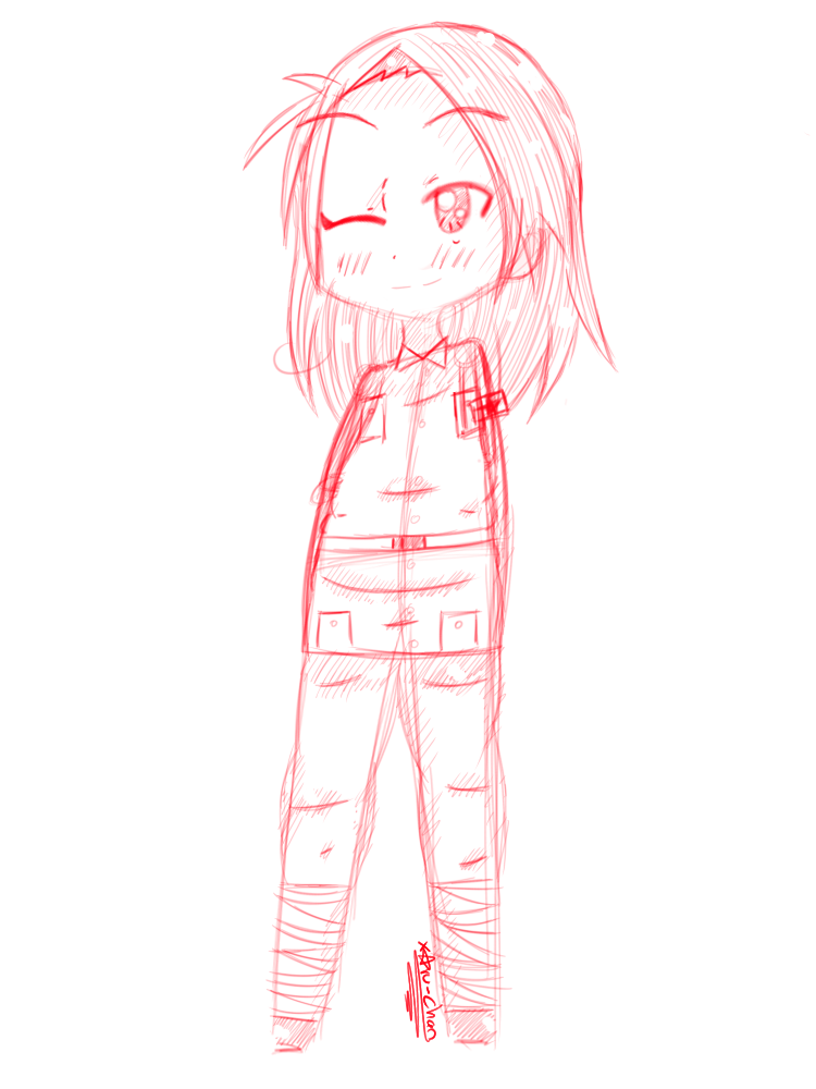 Sketch / New Style Practise: PRC by xAru-chan