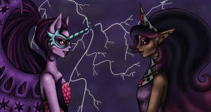 Midnight Sparkle and Twilight Sparkle...
