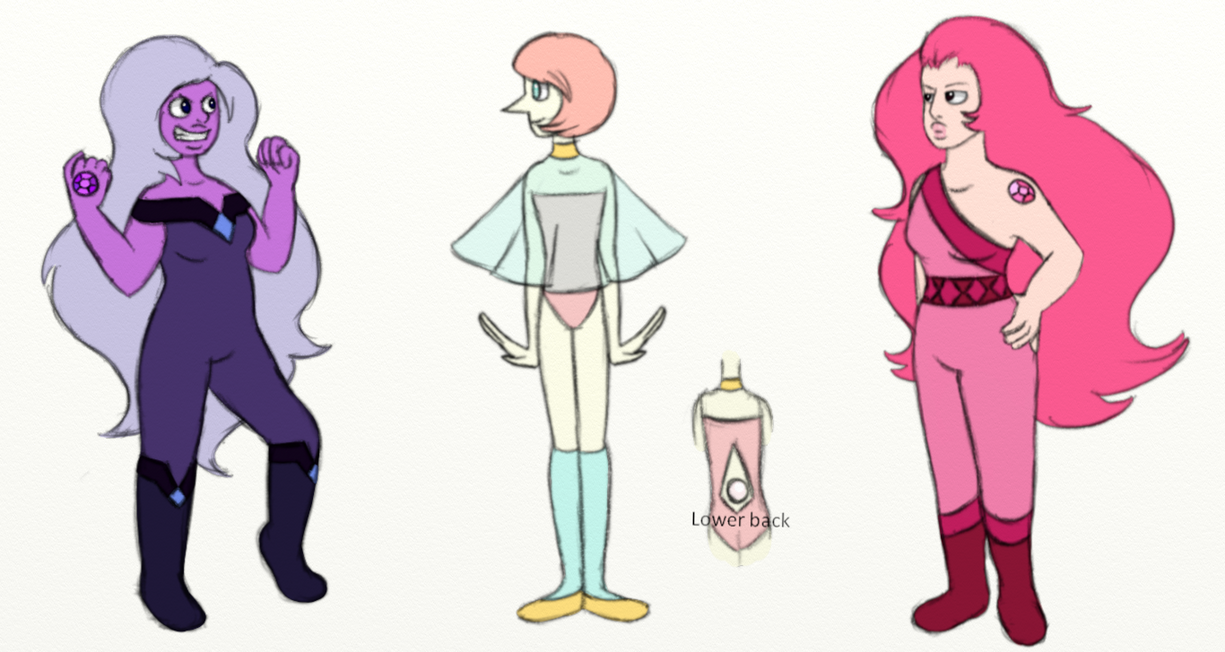 Just a Amethyst, Pearl and Rose Quartz