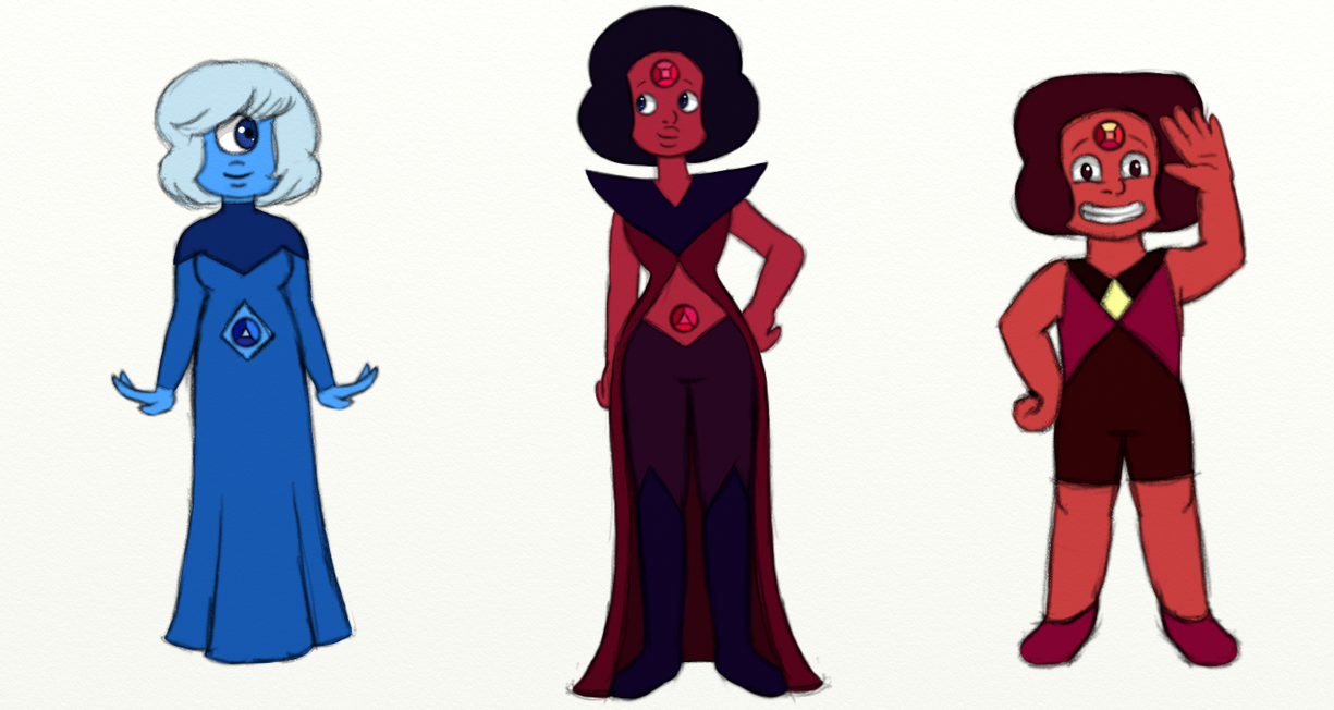 Just a Sapphire, Garnet and Ruby