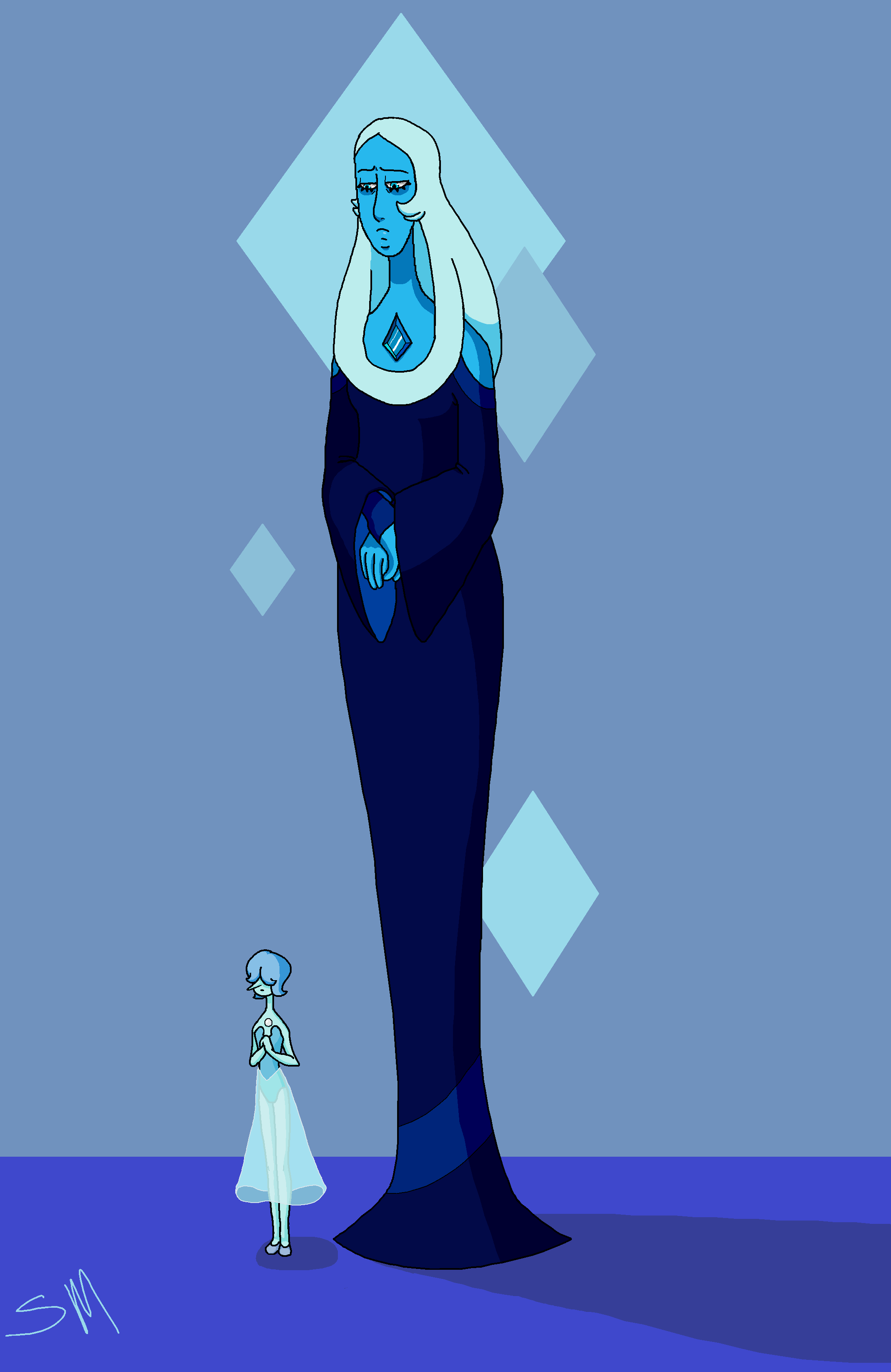 blue diamond elegantladyalex on deviantart art by