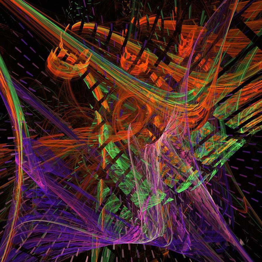 Tertiary Colors Twisting By VirusIris