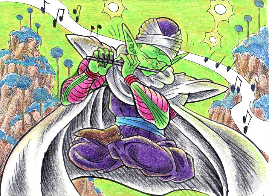Piccolo Playing Piccolo by blackhellcat