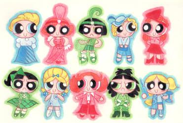 Powerpuff Girls Through Decades by blackhellcat
