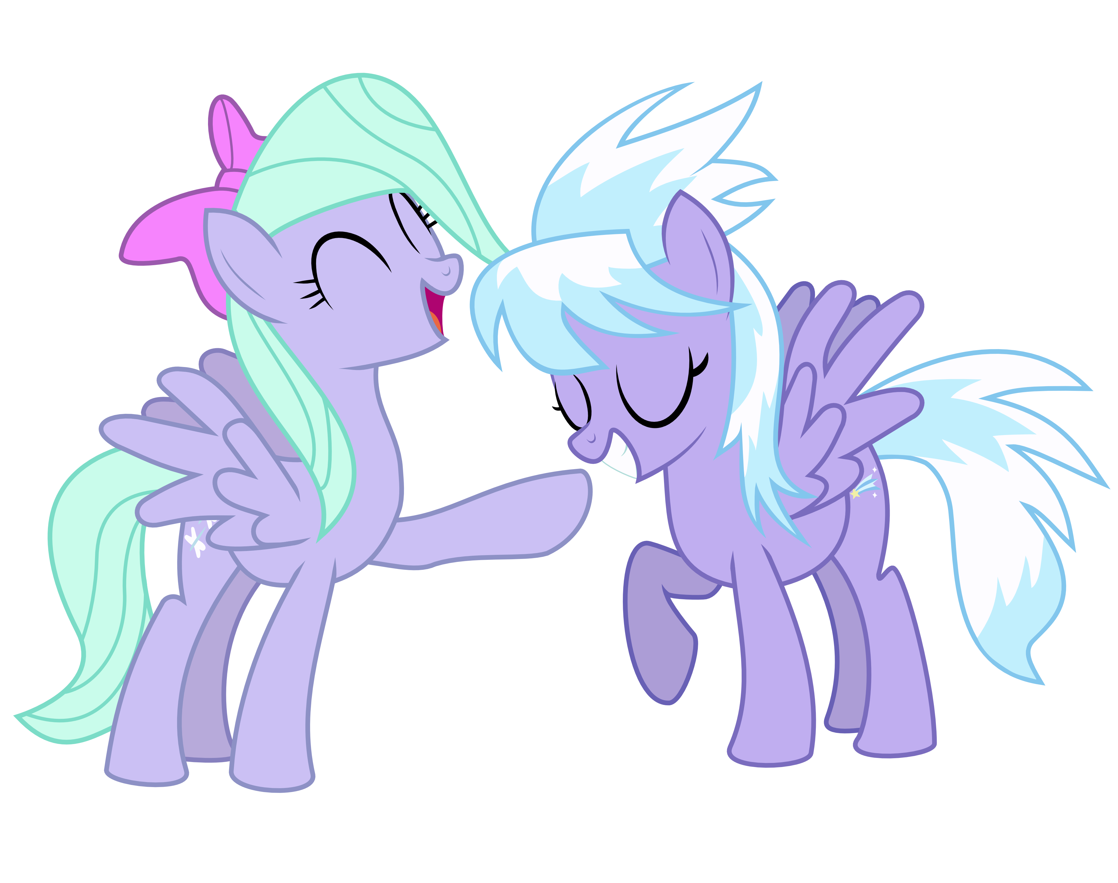 Flitter and Cloudchaser by V0JELLY