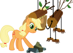Applejack versus the Timberwolf
