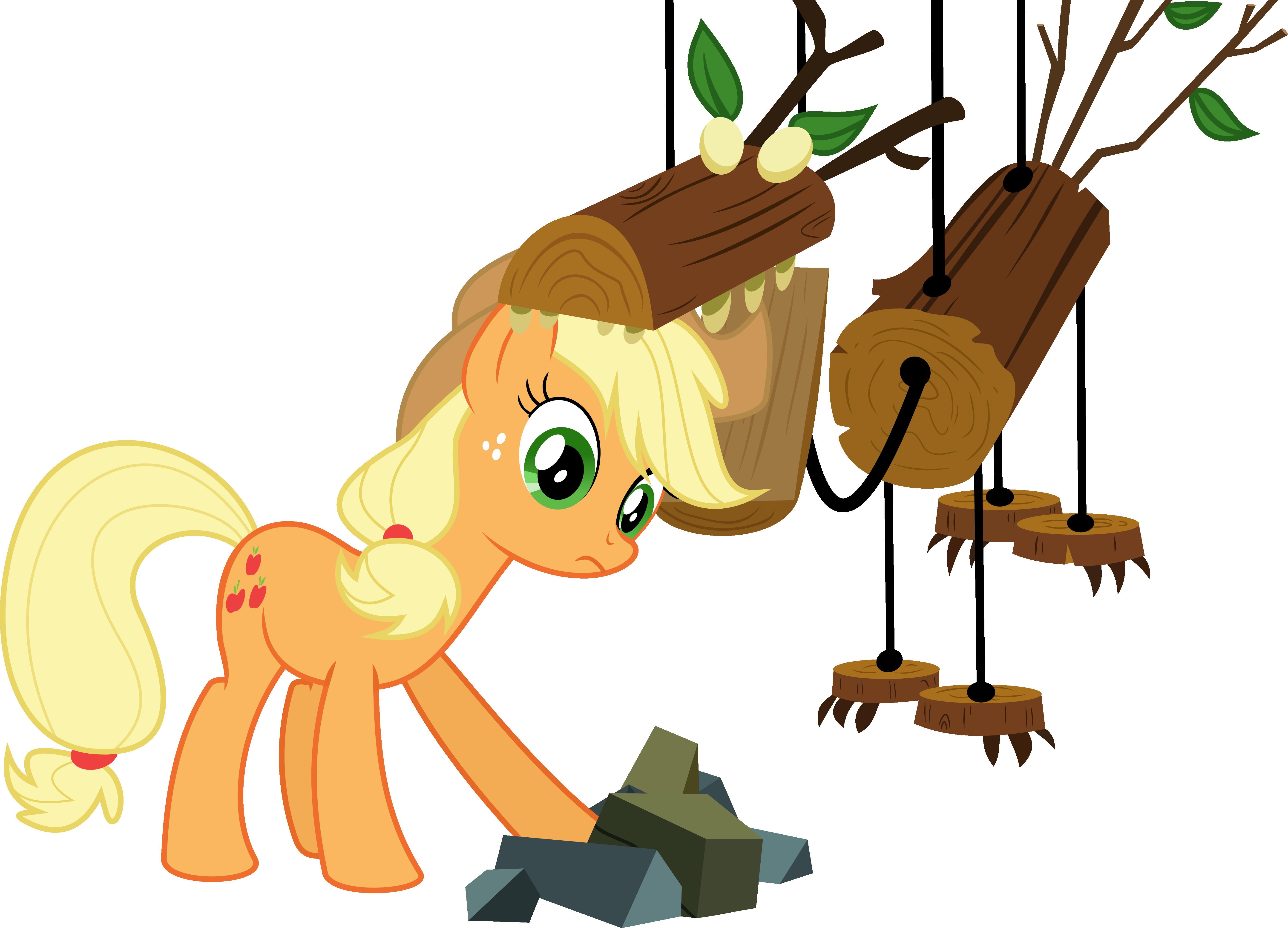 Applejack versus the Timberwolf by V0JELLY