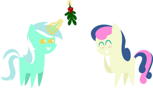 25 Days of Christmas Ponies- Day 10- Lyra+Bon Bon